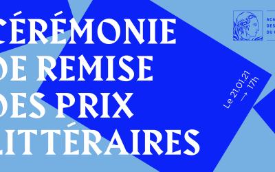 Cérémonie de remise des prix de l'Académie des lettres du Québec 2020